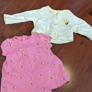 Bumble bee dress and sweater